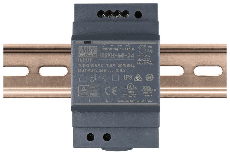 Led Driver Din Rail 24vdc 60w Uni Bright Power Supply Circuit